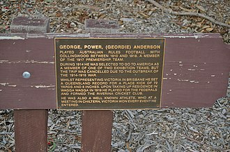 George P. Anderson - The Memorial Plaque at Anderson Park, Glenfield Road, Mount Austin