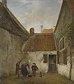 Andreas Schelfhout - Binnenplaatsje.jpg