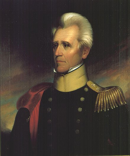 Andrew Jackson led an invasion of Florida during the First Seminole War. Andrew Jackson by Ralph E. W. Earl 1837.jpg
