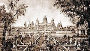 Louis Delaporte - Delaporte's engraving of Angkor Wat, published in 1880