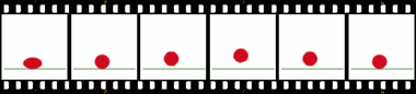La animacio de saltada balo (dekstra) konsistas el ĉi tiuj 6 kadroj.