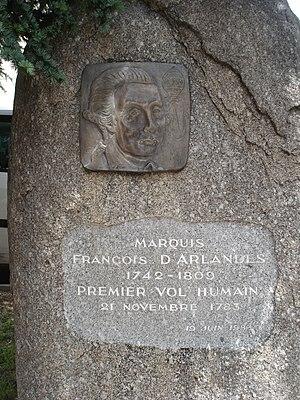 François Laurent d'Arlandes - Memorial to François d'Arlandes in Anneyron