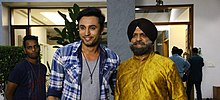 Anshul Trivedi with darshan jariwala on the sets of OXYGEN