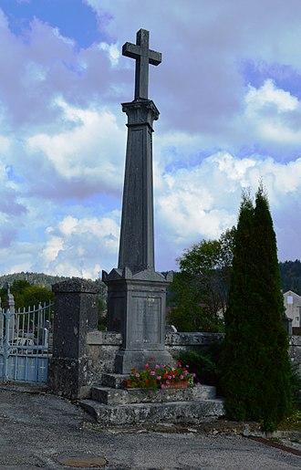 Apremont, Ain - A Monumental Cross in Apremont