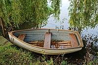Arboretum lake rowing boat West Lodge Park, Hadley Wood, Enfield, London, England 1.jpg