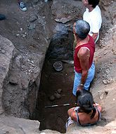 Archaeologists studying Carian tomb in Milas Becin