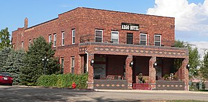 National Register of Historic Places listings in Knox County, Nebraska - Image: Argo Hotel from SW 1