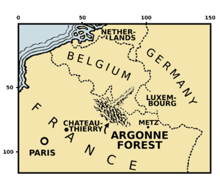 Forest of Argonne site of Meuse-Argonne Offensive