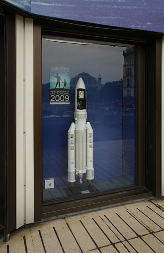 CNES - Ariane 5-ECA model showcase at CNES, Paris
