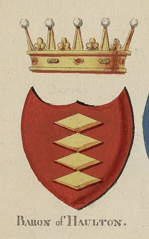 Halton (barony) - Arms of the Baron of Halton
