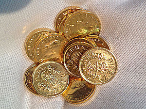 Las arras - 13 arras matrimoniales, gold coins