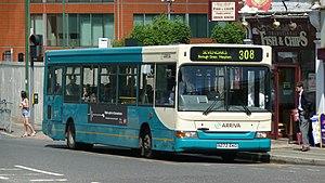 Arriva Kent Thameside - Plaxton Pointer 2 bodied Dennis Dart SLF in Sevenoaks on route 308 in June 2009