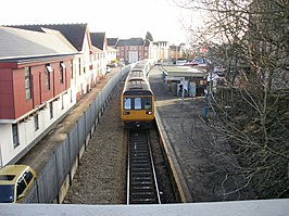 Arriva train in Penarth Station - geograph.org.uk - 1694585.jpg