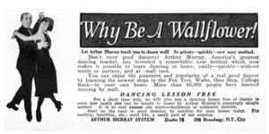 Arthur Murray -  A 1922 advertisement for Arthur Murray's dance system
