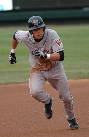 Asdrúbal Cabrera - Cabrera in the minor leagues playing for the Wisconsin Timber Rattlers on May 16, 2005