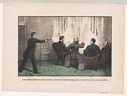 Assassination of President Lincoln, Ford's Theatre, Washington, April 14, 1865 LCCN2003656453.jpg