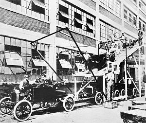 History of Ford Motor Company - Ford assembly line (1913).