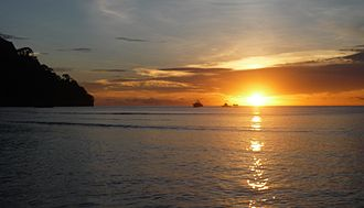 Cocos Island - Wafer Bay Sunset