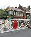 Attleborough railway station - the old crossing gates - geograph.org.uk - 1408000.jpg