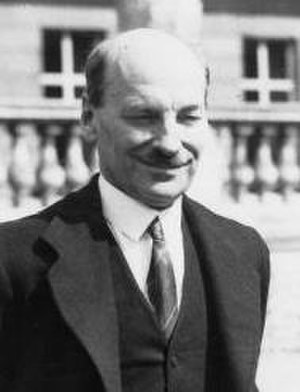 United Kingdom general election, 1945 - Image: Attlee with George VI HU 59486 (cropped)