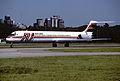 Austral MD-81; LV-WFN@AEP, March 1995 BYO (5127264648).jpg