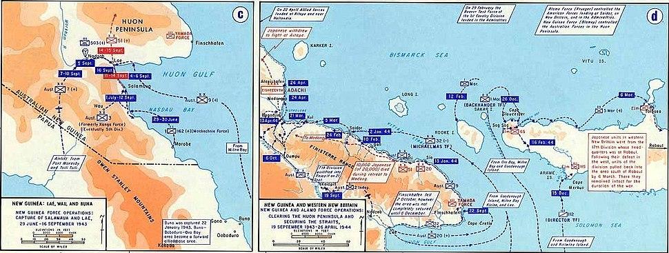 Australian Operation Cartwheel battles