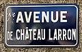 Avenue de Château-Larron (Belley), panneau.jpg