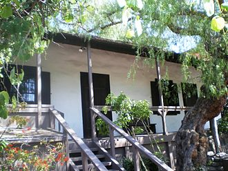 California Historical Landmarks in Los Angeles County - Image: Avila Adobe, Olvera Street, Los Angeles
