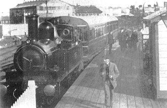 Avonmouth Docks railway station - The only known photograph of the station.