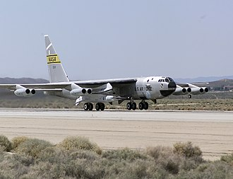 NASA X-43 - NASA's B-52B launch aircraft takes off carrying the X-43A hypersonic research vehicle (March 27, 2004)