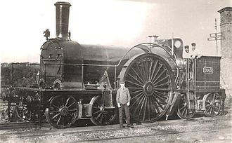 Bristol and Exeter Railway - Pearson 4-2-4T at Exeter in 1876