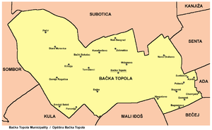 Bačka Topola - Map of Bačka Topola municipality