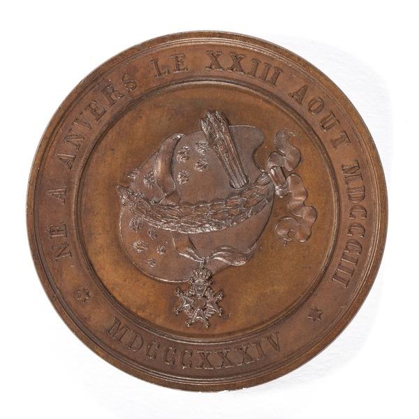 File:Baksida av bronsmedalj med konstnärsmaterial - Skoklosters slott - 99229.tif