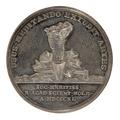 Baksida av medalj med redskap - Skoklosters slott - 99403.tif