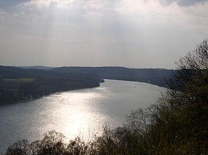 Baldeneysee von der Korte-Klippe aus gesehen
