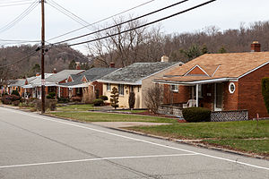 Baldwin Township, Allegheny County, Pennsylvania - A row of houses on Pearce Rd