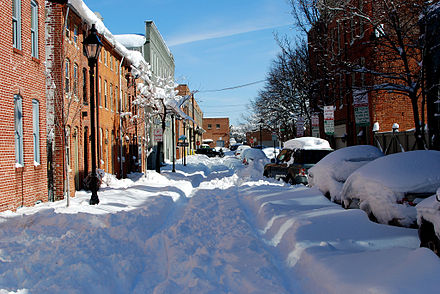 Winter in Baltimore, Lancaster Street, Fells Point Baltimore Snowpocalypse.jpg
