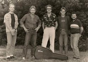 Bandana (country band) - The 1986 personnel lineup: L to R: Bob Mummert, Lonnie Wilson, Jerry Fox, Billy Kemp, Michael Black.