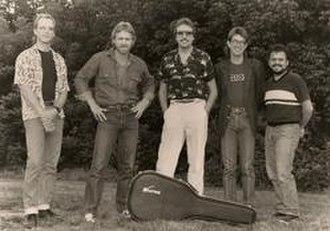 Bandana (country band) - The 1986 personnel lineup: L to R: Bob Mummert, Lonnie Wilson, Jerry Fox, Billy Kemp, Michael Black.