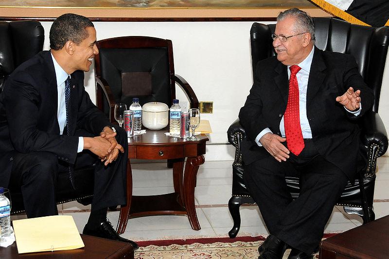 Barack Obama %26 Jalal Talabani in Baghdad 4-7-09.JPG