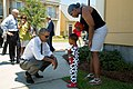 Barack Obama greets residents in the Tremé neighborhood of New Orleans.jpg