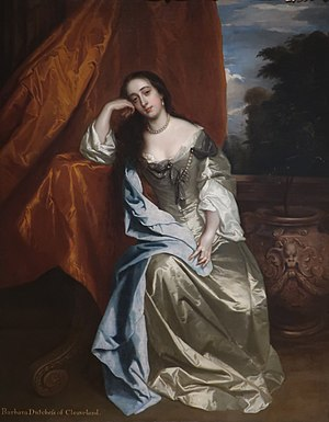 Villiers family - Barbara Villiers, Duchess of Cleveland (1640–1709), a mistress of King Charles II of England