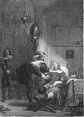 Anno 1630. Frederik Hendrik bezoekt graaf Jan van Nassau in diens gevangenis te Wezel