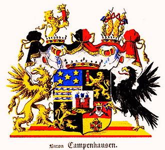 Balthasar von Campenhausen - The ancestral coat of arms of von Campenhausen