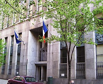 Baruch College - The Art Deco Administrative Center at 135 East 22nd Street was built in 1937–1939 as the Domestic Relations Court Building, and was connected to the Children's Court next door.