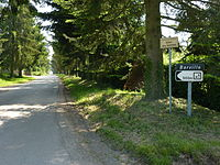 Barville (Eure, Fr) city limit sign.JPG
