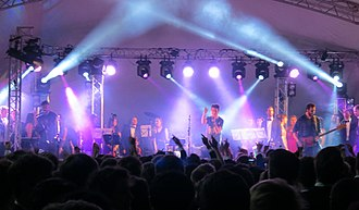Bastille (band) - Image: Bastille at Queens' College May Ball 2013