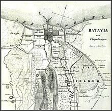 1846 mapa del sur de Batavia