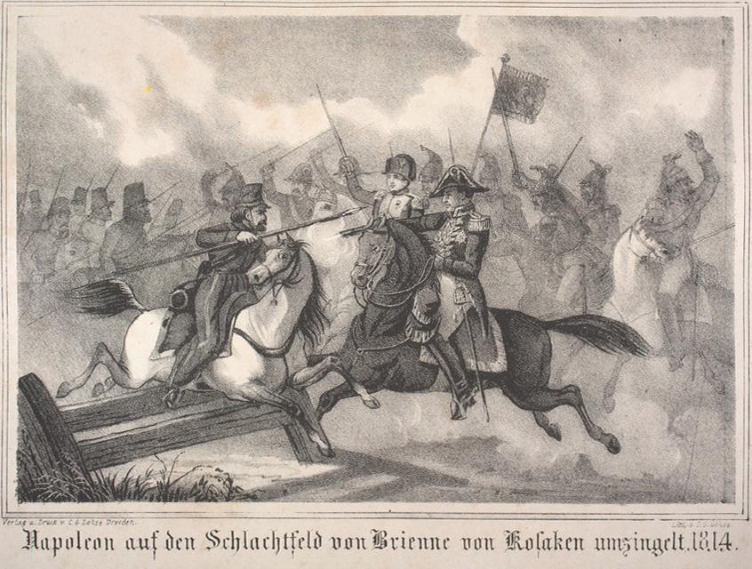 Battle of Brienne Napoleon vs Cossacks
