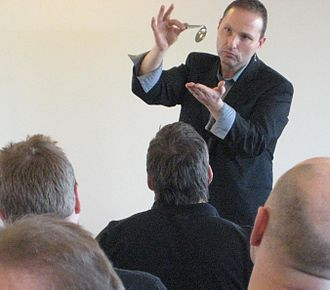 Spoon bending - Guy Bavli demonstrates spoon bending in Denmark in 2010